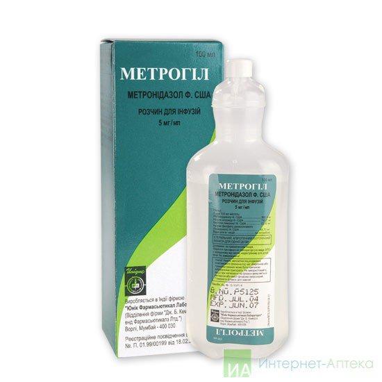 Антибиотик метрогил внутривенно