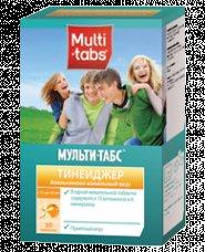 Мульти-табс Тинейджер – инструкция по применению, состав. Форма выпуска и цена Мульти-табс Тинейджер