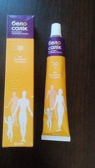 Мазь Белосалик в лечении атопического дерматита