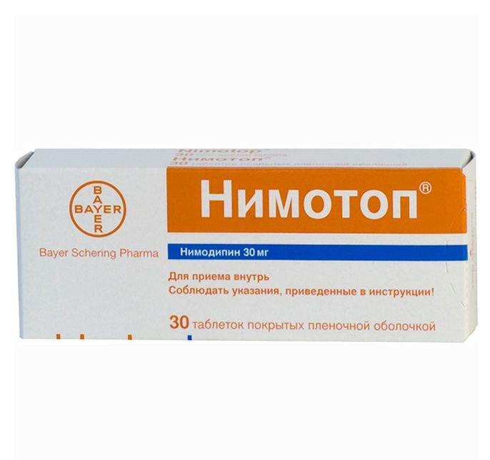 Нимотоп: инструкция по применению лекарства, отзывы и аналоги таблеток