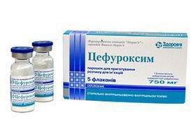 Цефуроксим (750 мг): инструкция по применению, показания. (Другие названия: Цефуроксим)