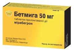 Бетмига 50 мг отзывы пациентов